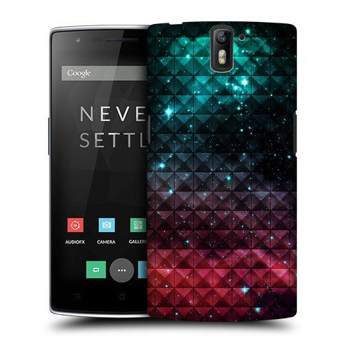 Head Case Designs Sparkling Red and Blue Studded Ombre Protective Snap-on Hard Back Case Cover for OnePlus One