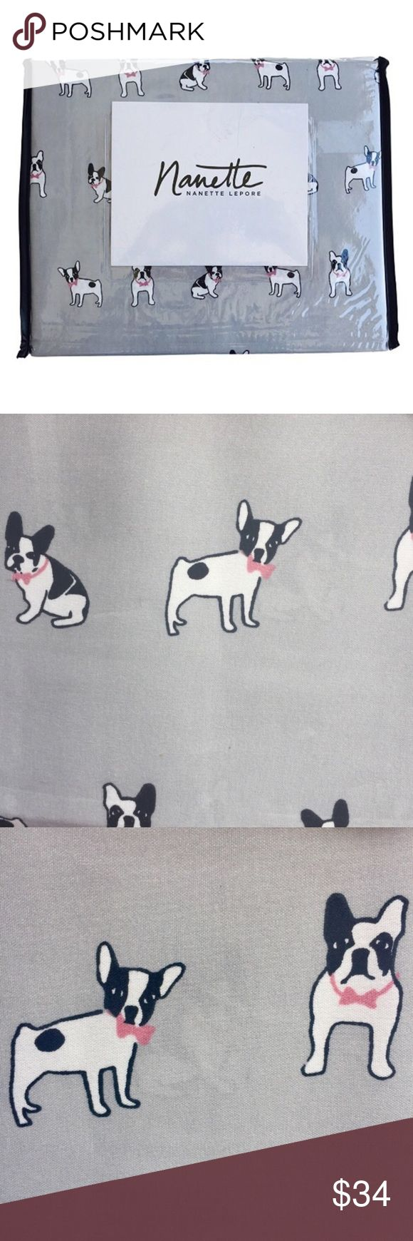 Nanette French Bulldog Frenchie Gray Twin Sheets Twin Nannette Other