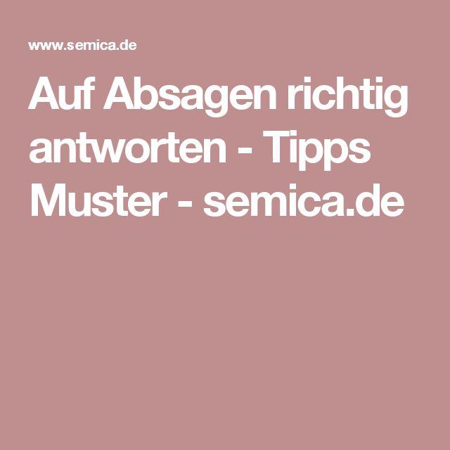 Auf Absagen richtig antworten - Tipps Muster - semica.de