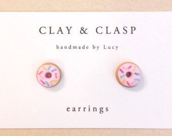 Egg and Bacon Earrings beautiful handmade polymer by ClayandClasp