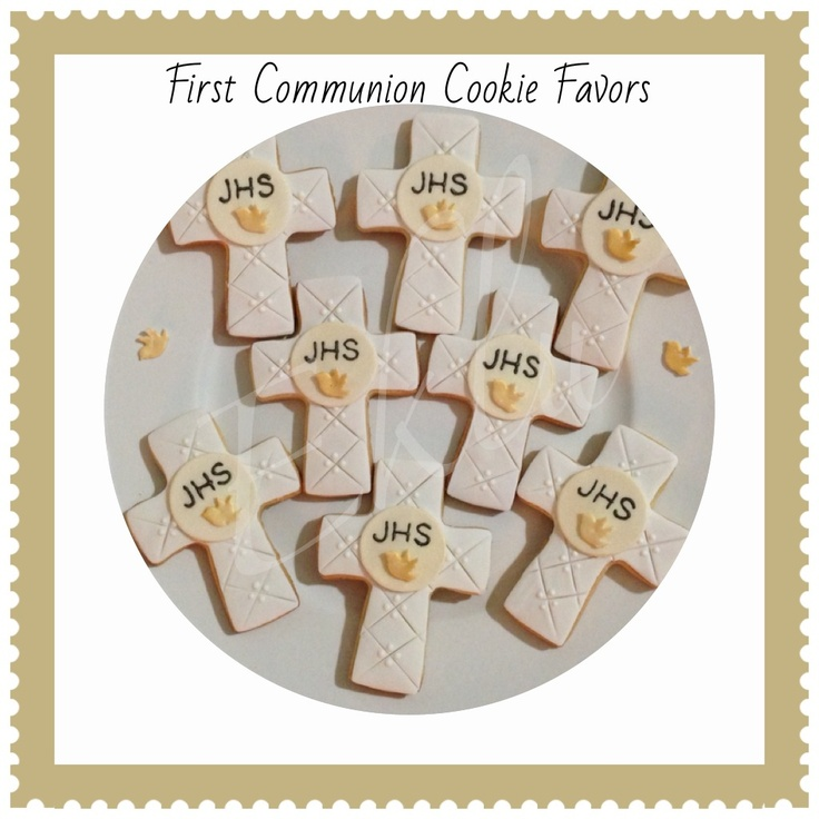 First munion Cookie Favors first munion boy white