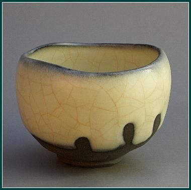 yellow - bowl - ceramic - Wakao Kei Zougeji Chawan