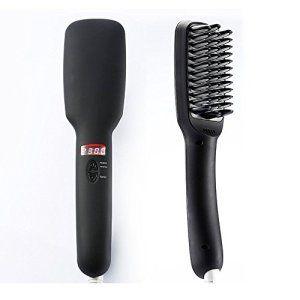 PRITECH 2 en 1 cheveux ionique défrisant Brush Anion Instant Magic Silky cheveux raides Styling Anti Scald Anti statique Céramique…