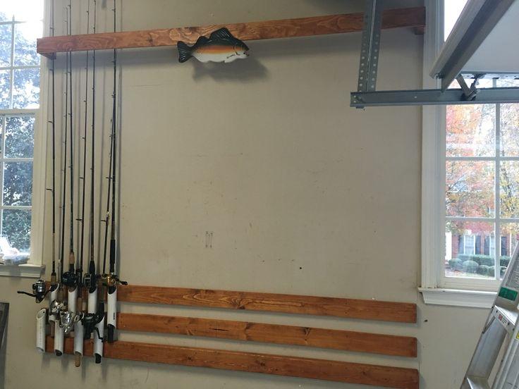fishing pole storage garage organization pinterest p che leroy et rangement. Black Bedroom Furniture Sets. Home Design Ideas