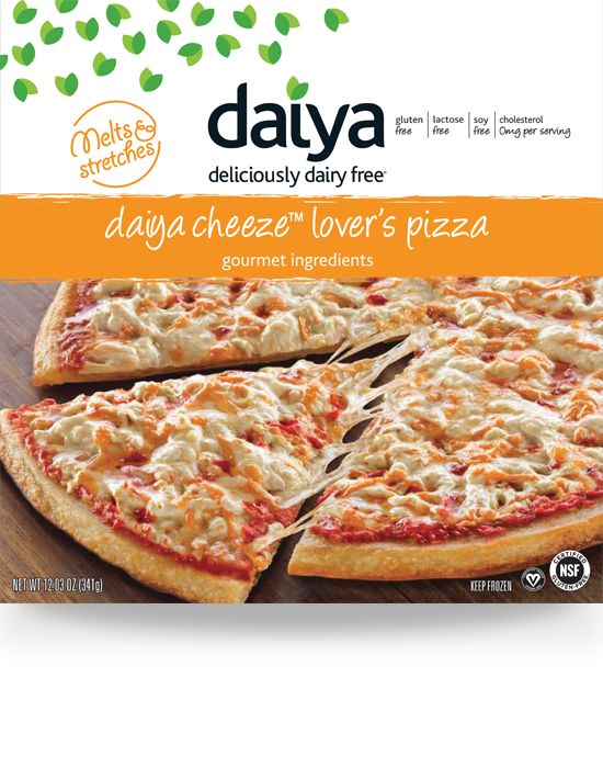 Gluten free Dairy free pizza Daiya cheese is coconut based Comes frozen and available at Whole Foods #Daiya #gfcf