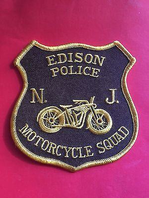 EDISON NEW JERSEY POLICE MOTORCYCLE SQUAD  SHOULDER  PATCH
