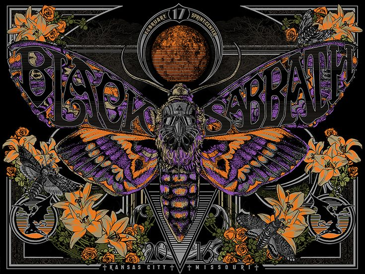 "Black Sabbath 'Botafumeiro' Chicago, Illinois Poster This artist's edition is limited to just 50 prints, signed and numbered. She will be keeping one for herself so there will be only 49 for sale. Expertly silk screen printed in seven colored inks, on premium 100lb 'red hot' 18""x24"" French Paper."