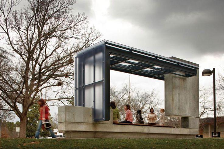 Bus Shelter in Raleigh, North Carolina by Clark Nexsen
