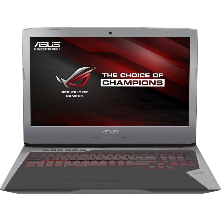 """Asus - ROG 17.3"""" Laptop - Intel Core i7 - 32GB Memory - 1TB Hard Drive + 256GB Solid State Drive - Copper Silver"""