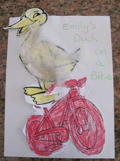 """Duck on a bike"" easy activity!"
