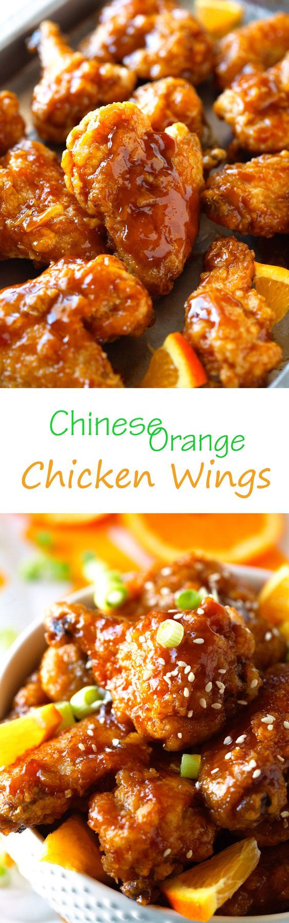 Chinese Orange Chicken Wings - always a Game Day Favorite. You won't believe how quickly they disappear!