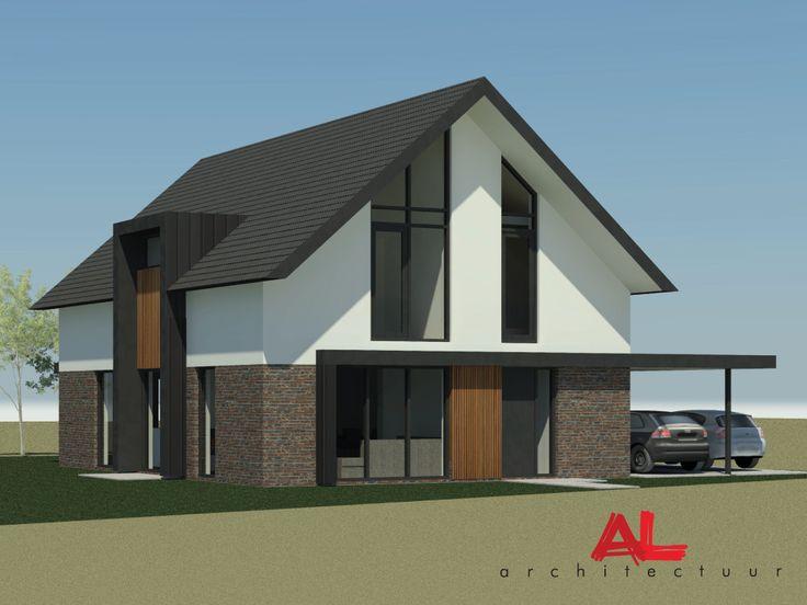 Al architectuur nieuwbouw vrijstaande woning woonhuis nieuwbouwwoning epse by al - Landscaping modern huis ...