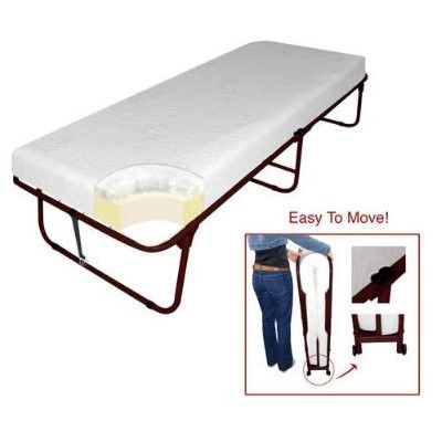 Deluxe space saving rollaway bed folding bed the o 39 jays beds and luxury - Space saving guest beds ...