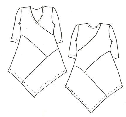 Zig Zag Tunic ~ for a simplest way to get it right, use a top that has the right size for sizing