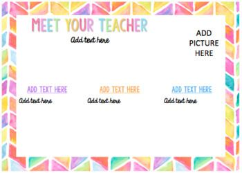 Meet The Teacher Postcards {EDITABLE}