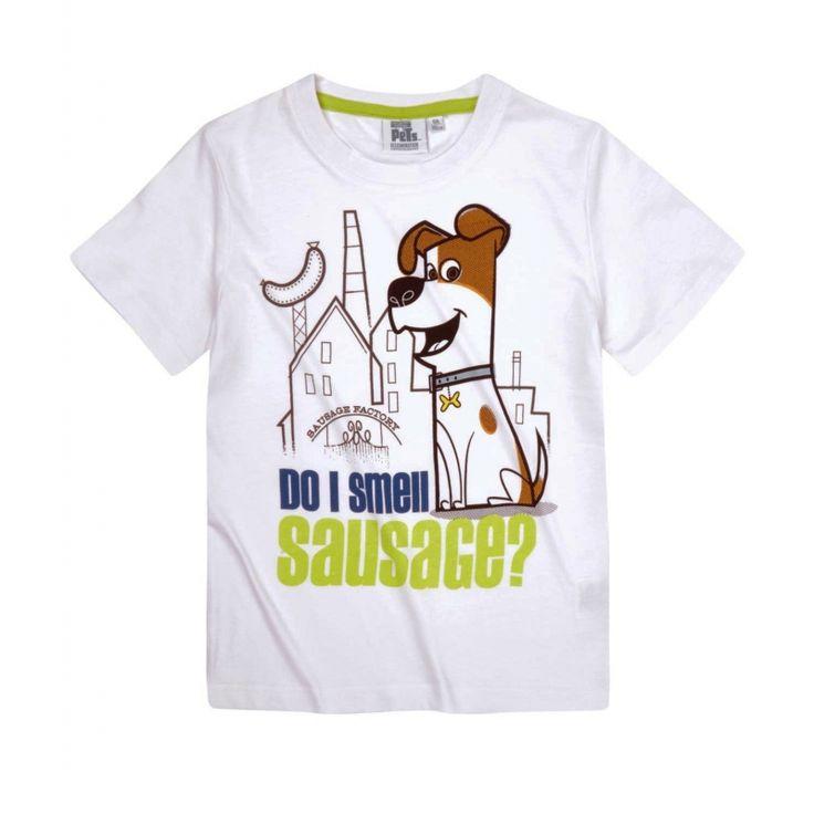 Tricoul cu simpaticul catel va fi purtat cu placere de baiatul tau!  mayerial…