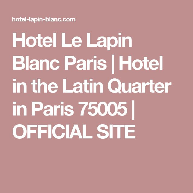 Hotel Le Lapin Blanc Paris |  Hotel in the Latin Quarter in Paris 75005 |  OFFICIAL SITE