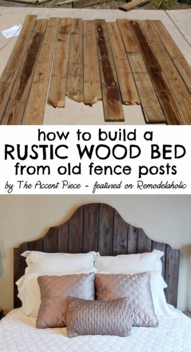 25 best ideas about reclaimed wood headboard on pinterest for Do it yourself bed frame ideas