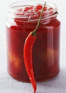 Confiture de prunes aux piments rouges