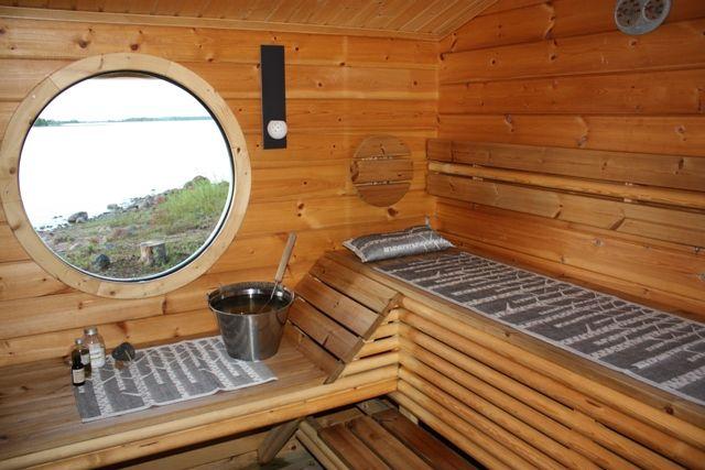 Sauna with a window!