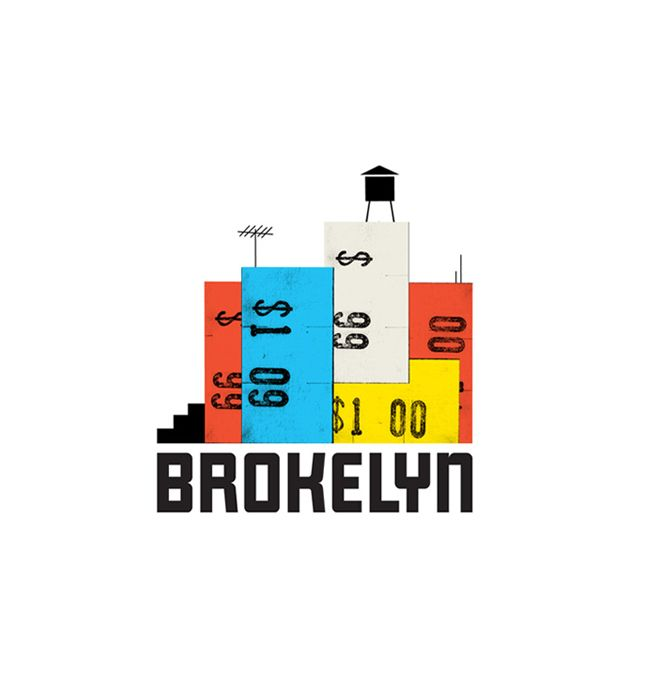 BROKELYN Logo by The Heads of State. Identity design for Brokelyn, an online resource for living large on a limited budget in the best borough of them all.