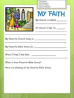 Compassion International letter writing templates