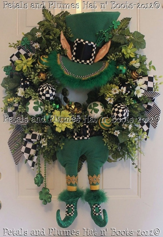 22 Best St Patrick 39 S Day Wreaths Decorations Images On