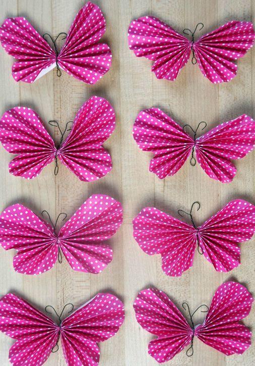 Easy Peasy Paper Butterflies | AllFreeKidsCrafts.com