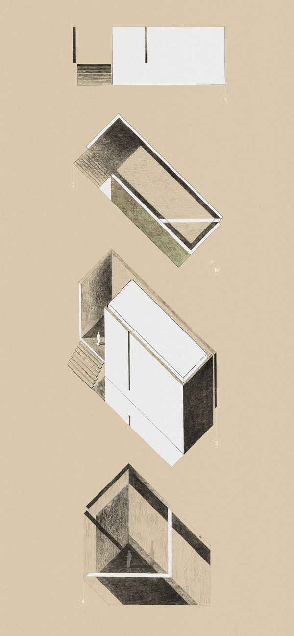 architecture studio I: concept for a Praise House. by maitham almubarak, via Behance