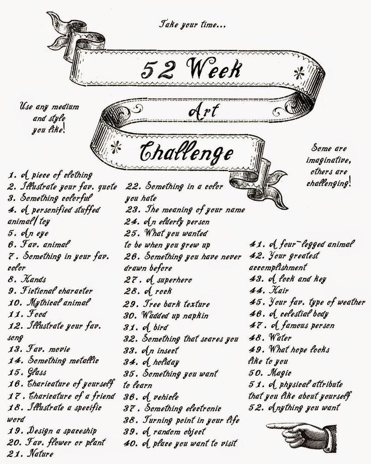52 week art challenge