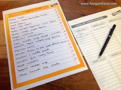 traslada cada día alguna tarea a tu lista de tareas diaria - AorganiZarte.com