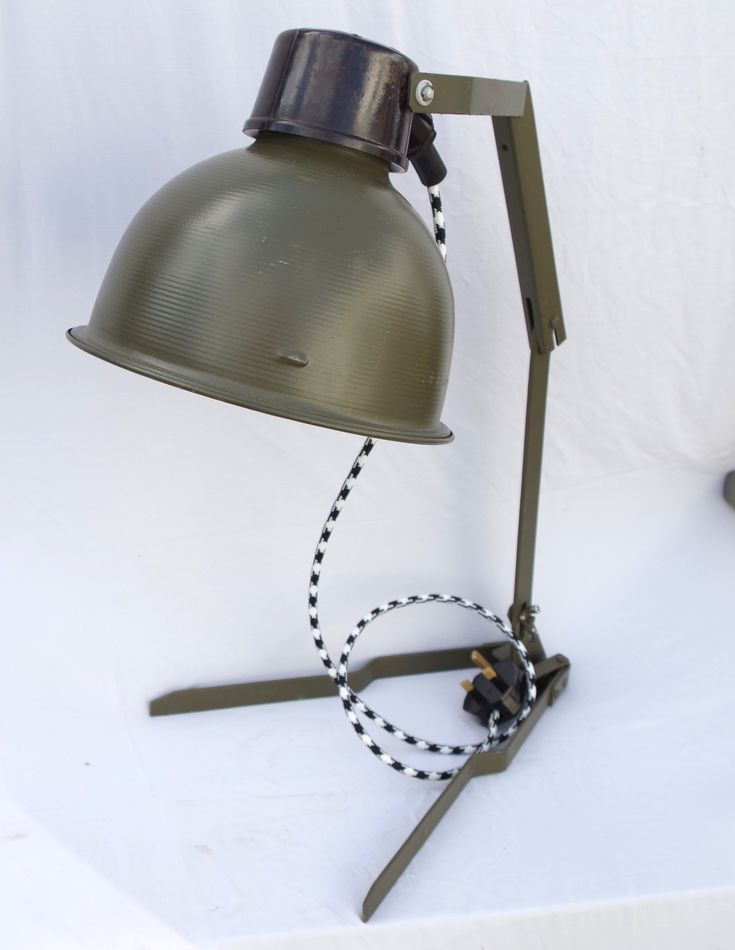Genuine Rare Vintage Military Desk Lamp c1950s