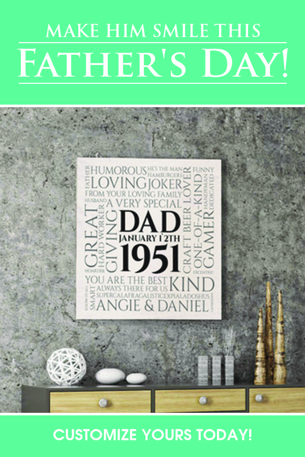 609a083db787 Click to personalize this canvas with all the amazing things about your dad...trust  us