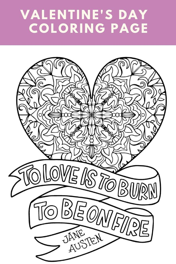 Free Printable Mandala Coloring Page -   Valentines day ...