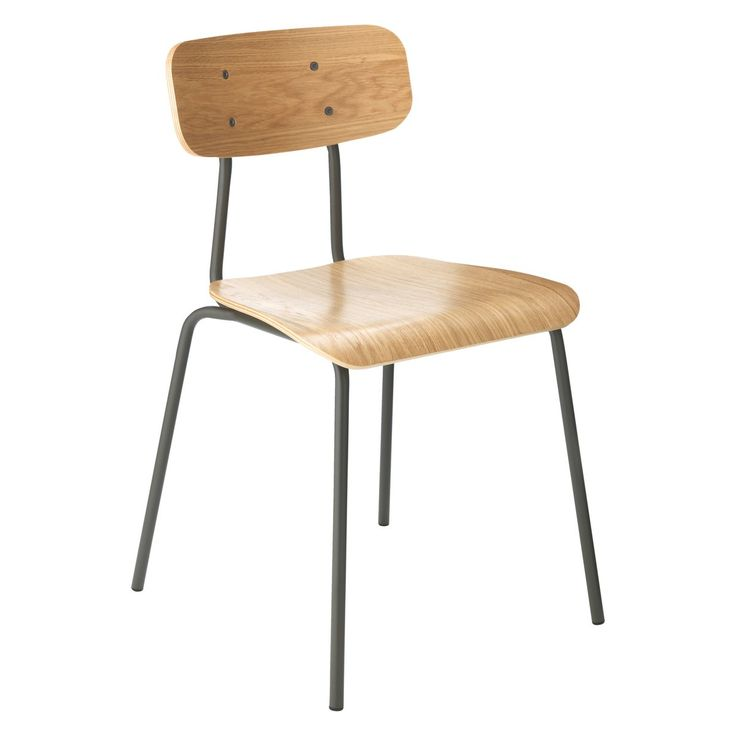 HESTER Charcoal stackable dining chair