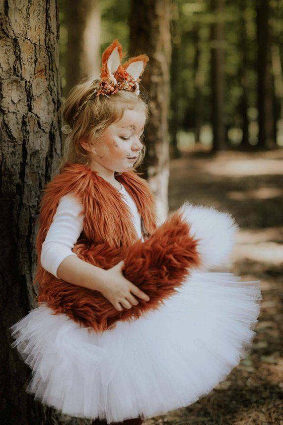 Fox-Tutu-Rock, weißes Tutu, Halloween-Tutu, Halloween-Rock, Halloween-Kostüm, …