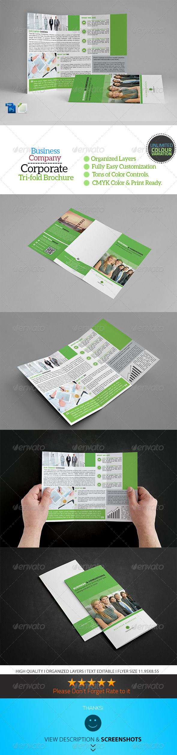 A4 Trifold Business Brochure Template Vol13 The