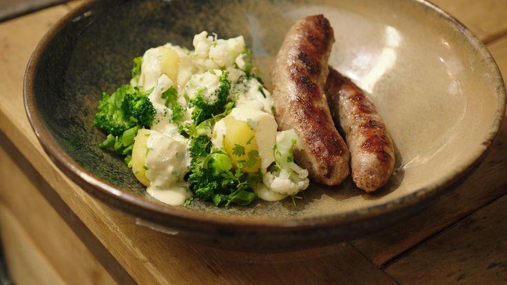 Braadworst met koude aardappelsalade | Dagelijkse kost
