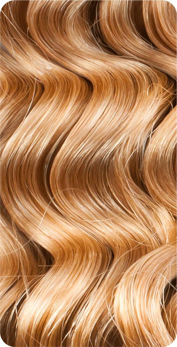 Wellige Haarverlängerung mit Clips - Hellbraun-Karamell - Echthaar (51-55cm)