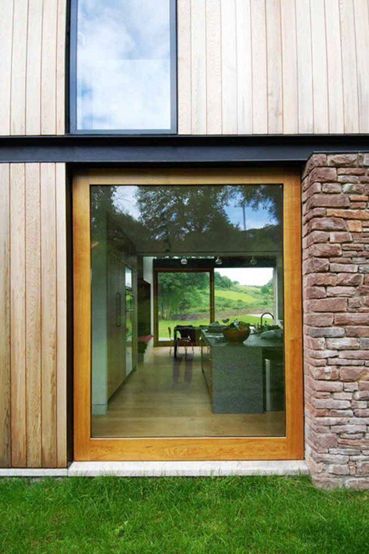 Timber Cladding Panels for Glazing Home Design
