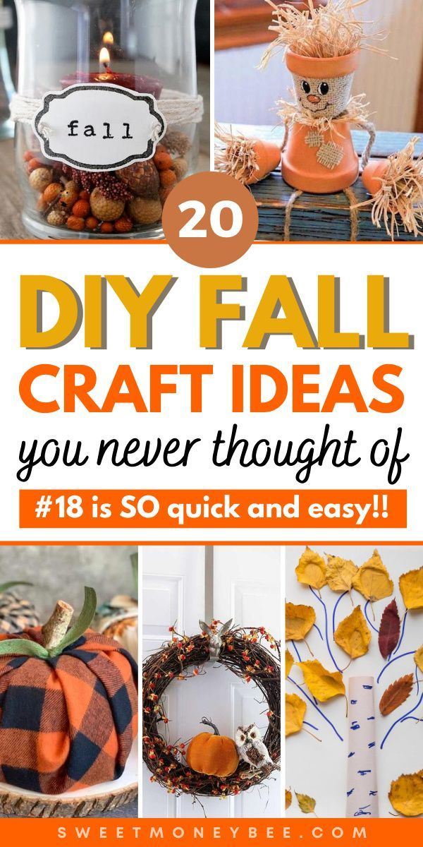 Diy Fall Crafts For Kids And Adults In 2020 Fall Crafts Diy Fall Crafts Fall Crafts For Adults