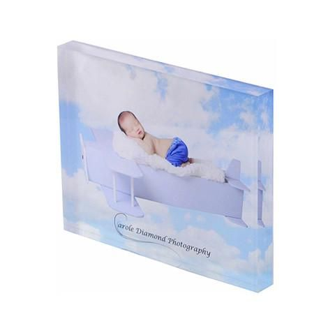 "Personalised Acrylic 10""x8"" Photo Block"