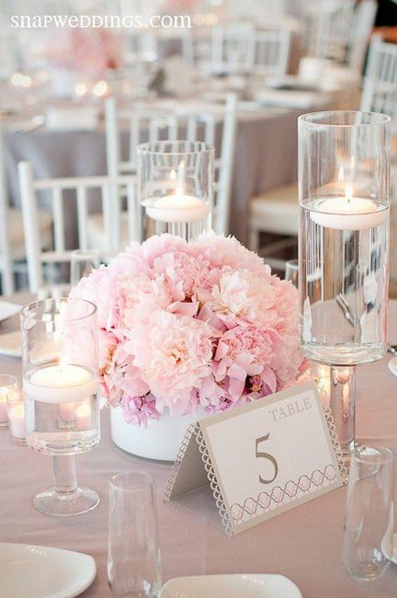 Pretty and stylish tabletop design wedding centerpiece / http://www.deerpearlflowers.com/wedding-ideas-using-candles/