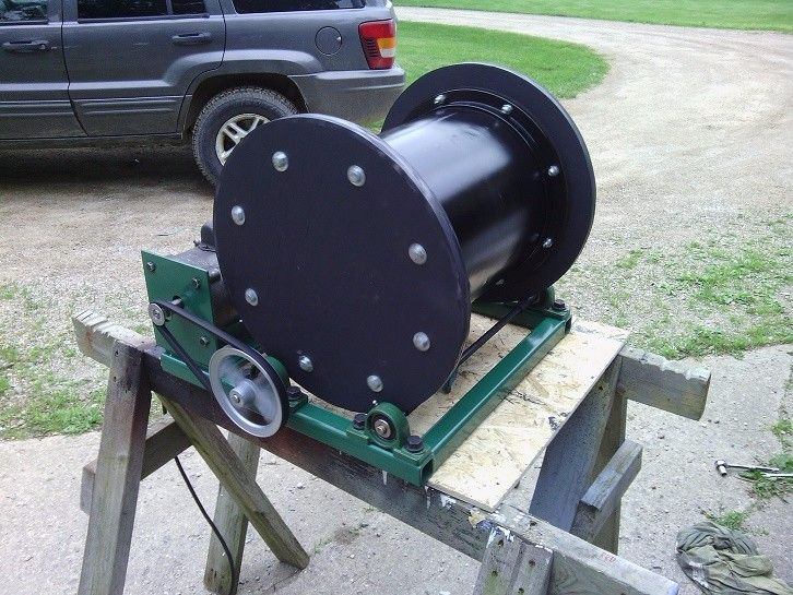 "Wet Tumbler by tigman250 -- Homemade wet tumbler constructed from a 12"" diameter fan housing and powered by a 1/2 HP motor. Utilizes stainless steel pellets as tumbling media. http://www.homemadetools.net/homemade-wet-tumbler-8"