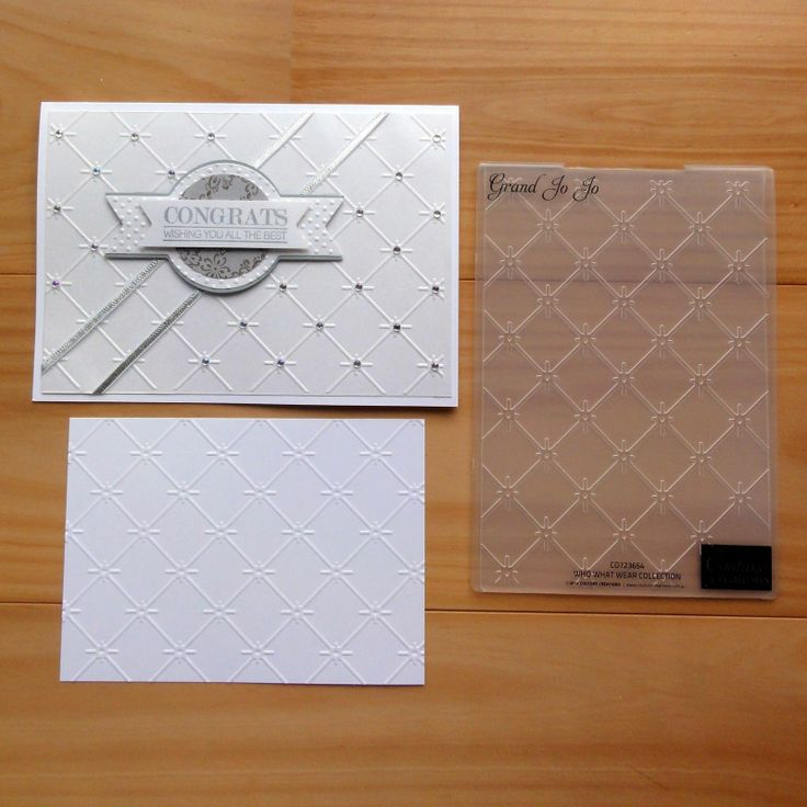 Couture Creations Embossing Folder Grand JO JO Lattice ...