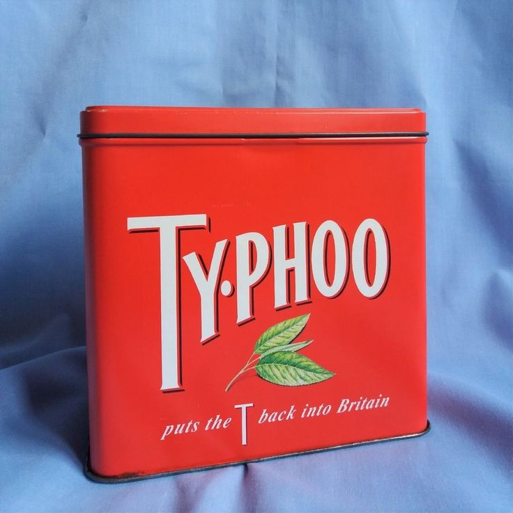 Empty Typhoo Tea Bag Storage Tin 1995 Vintage Limited Edition Advertising Caddy