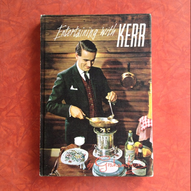 Cover of 'Entertaining with Kerr' by Graham Kerr, published by A. H. & A. W. Reed, Auckland, 1968.