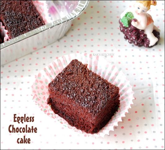 Eggless Chocolate Cake Recipe with all-purpose flour, coco, sugar, oil, baking soda, lemon juice, water, salt, vanilla essence