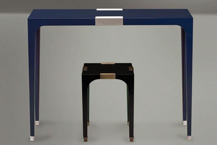 Remembering AD100 Designer David Collins Console Table and Side Table  David Collins for Promemoria