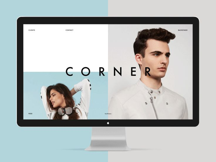 Corner fashion photo studio. UI/UX — Alexander Laguta More about Corner on Behance Thank you!